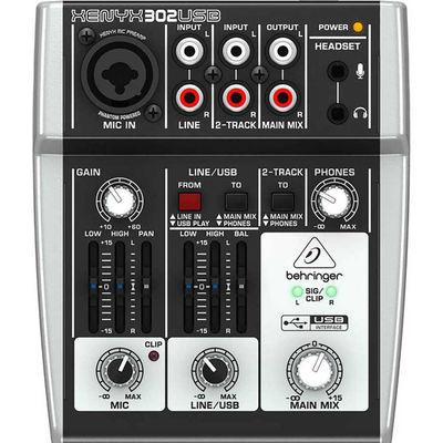Xenyx 302USB 5 Kanal USB Ses Kartlı Stüdyo Mikseri