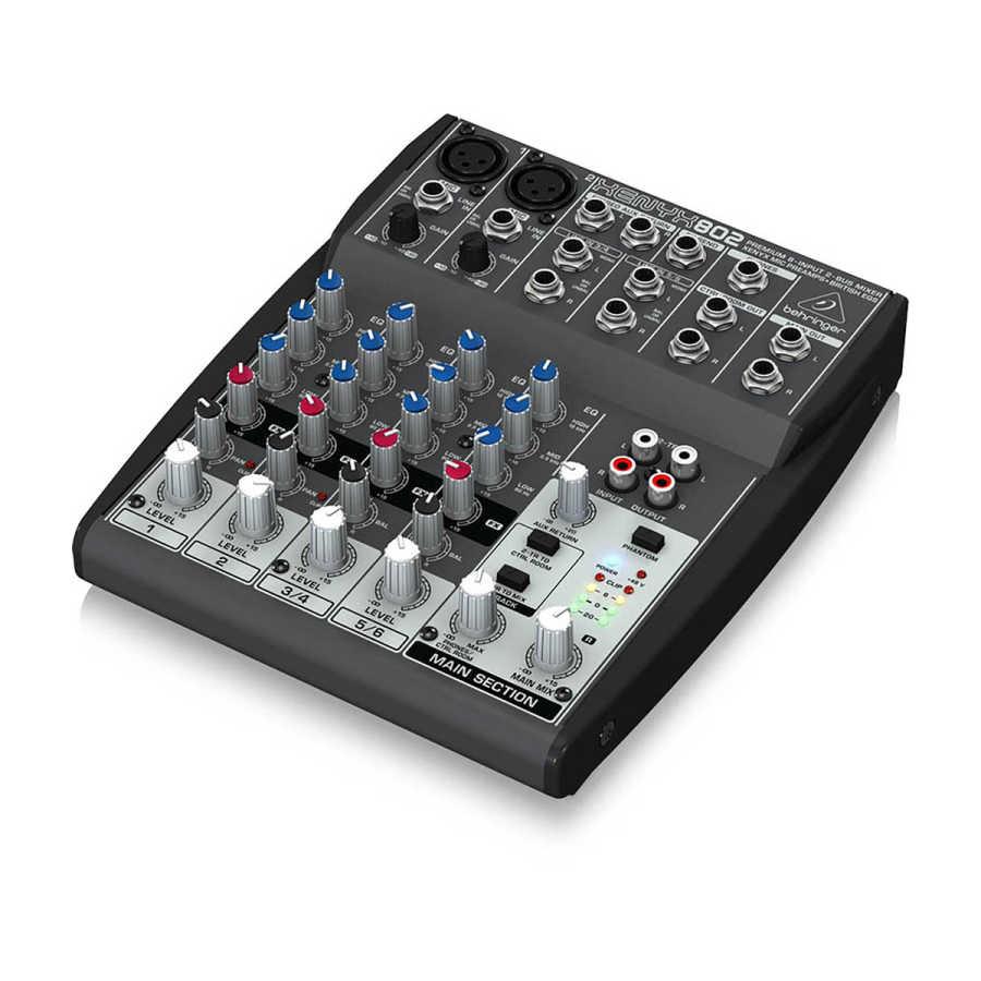 802 8 Kanallı Ses Mikseri