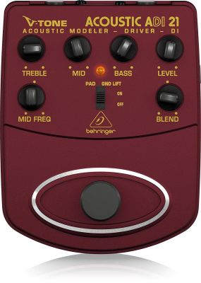 ADI21 V-Tone Profesyonel Akustik Gitar İçin Pedallı Preamfi DI-BOX