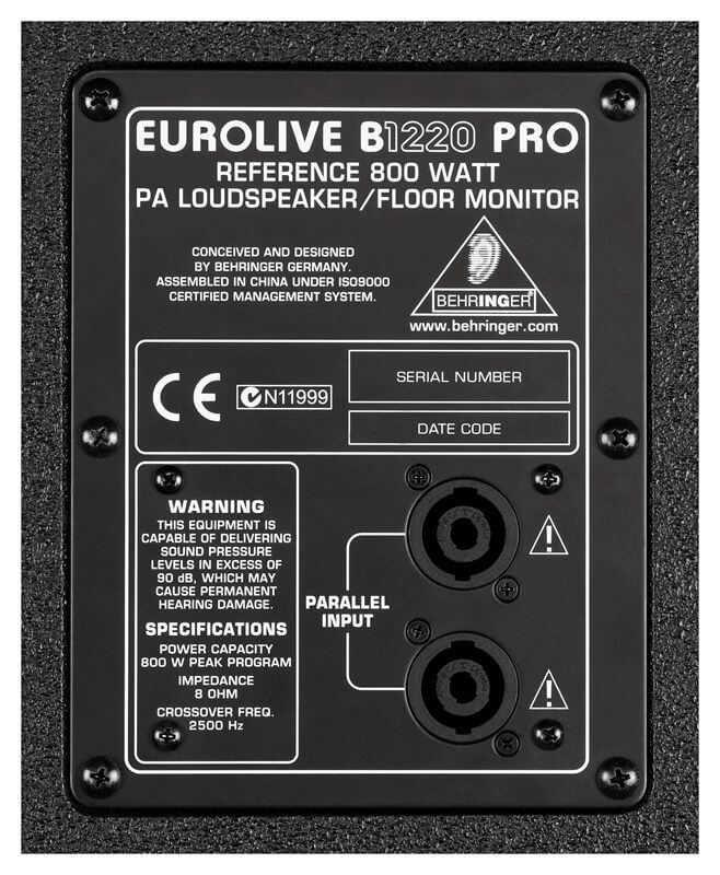 behringer b1220 pro pasif hoparlör