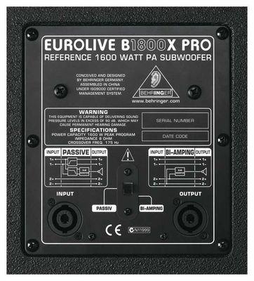 B1800X PRO 1800 Watt Pasif Subbass
