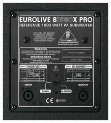 B1800X PRO 1800 Watt Pasif Subbass - Thumbnail