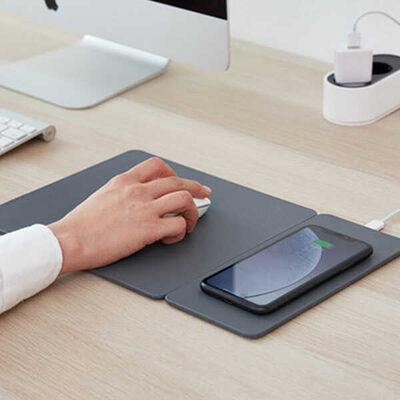 HANDS 3 SPLİT DUSTY GRAY Wireless Şarjlı Mouse Pad
