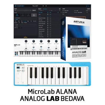 MicroLab Midi Klavye MAVİ