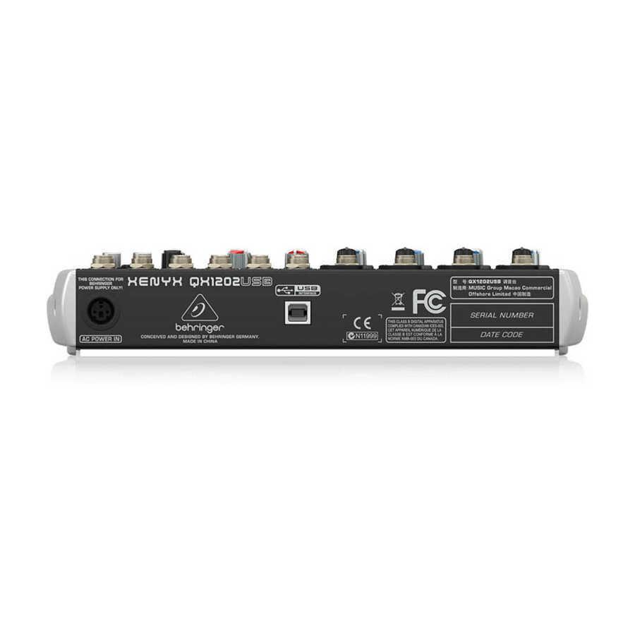 qx1202usb 12 Kanallı efektli Ses Mikseri usbli