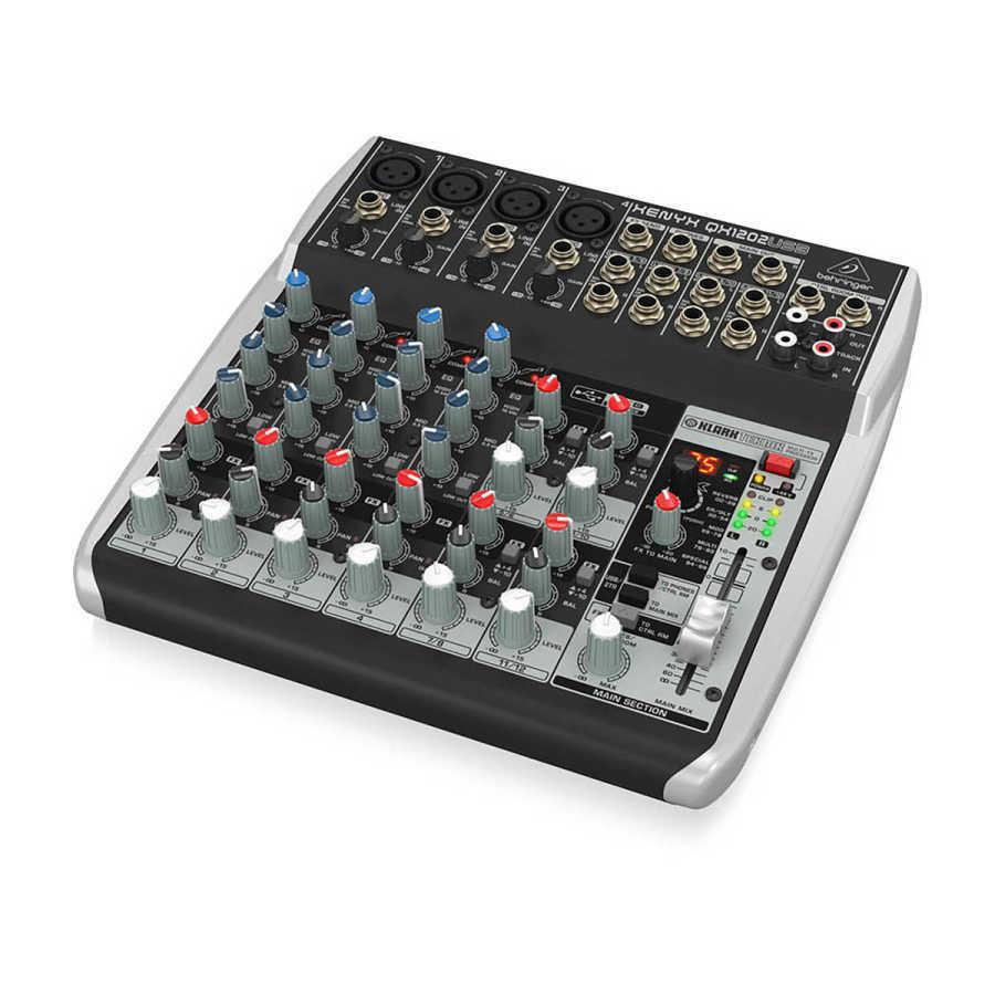 qx1202usb 12 Kanallı efektli Ses Mikseri