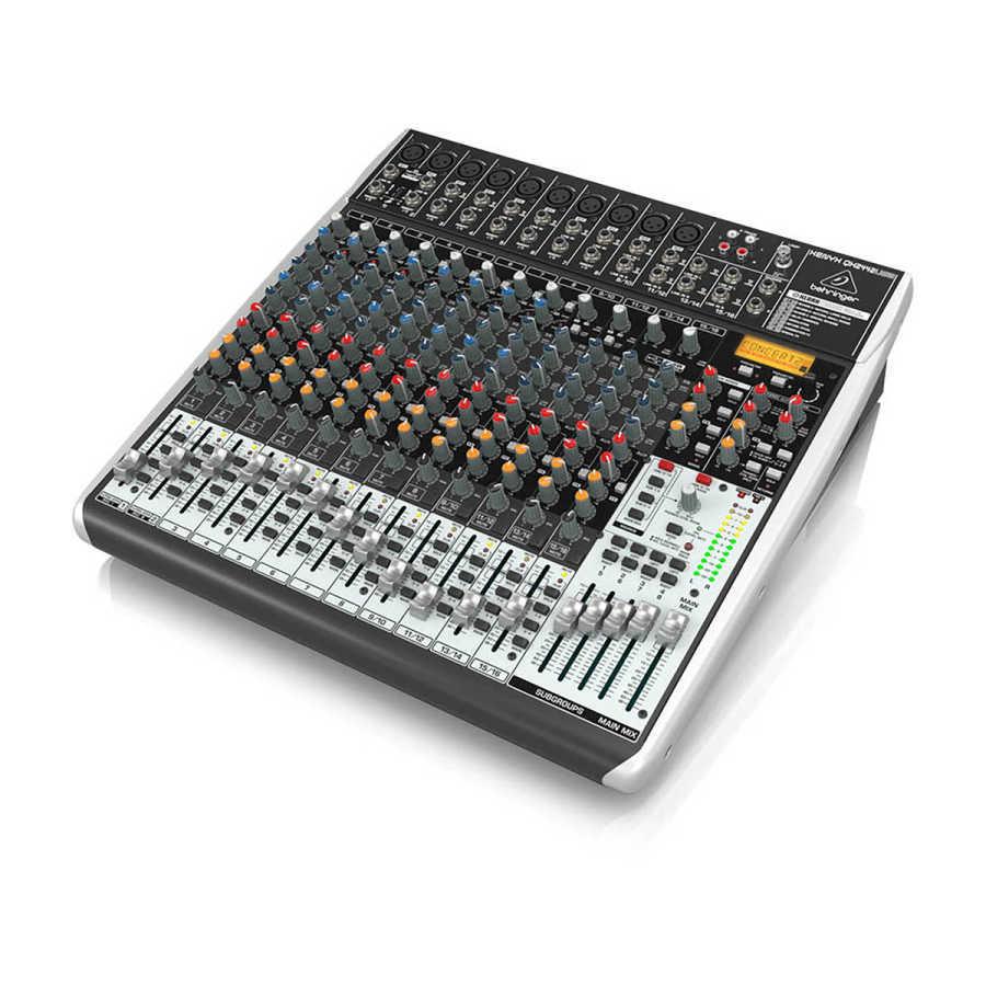 qx2442usb 12 Kanallı efektli Ses Mikseri