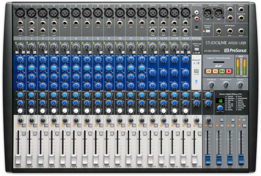 StudioLive AR 22 USB 22 Kanal Hibrit mixer