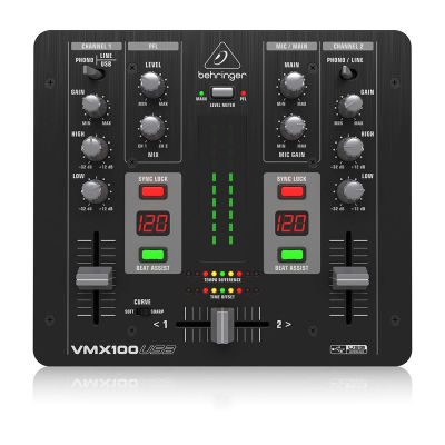 VMX100USB 2 Kanallı Profesyonel DJ Mikseri
