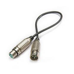 XLR43 Yüksek Kaliteli XLR Kablo 43cm. - Thumbnail