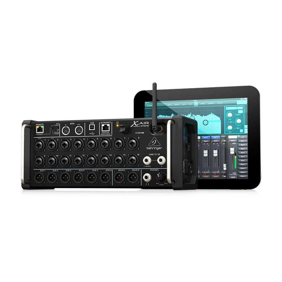 Behringer X Air XR18 Kablosuz Dijital Mikser 18 Kanal 6 Aux